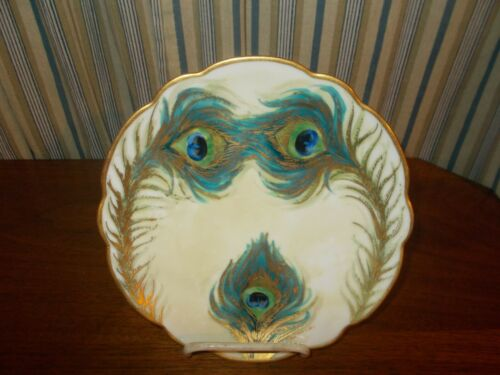 Rare  Pickard China  Hand Painted Porcelain  Plate Amazing Eyes and mouth