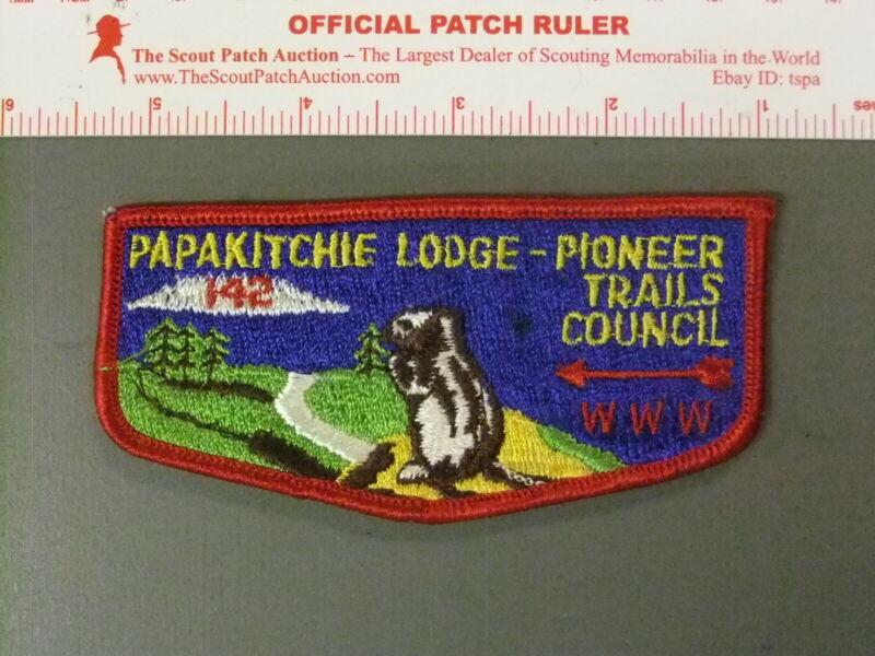Boy Scout OA 142 Papakitchie flap 7619JJ