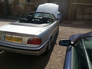 1999 BMW 318I CONVERTIBLE AUTO SILVER spares or repair