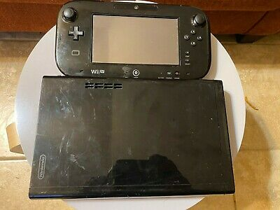 Original Nintendo Wii U Black Replacement Gamepad / 32GB Console (no cables inc)