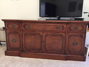 Antique solid wood dining sideboard - Moving / downsizing
