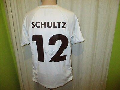 FC St.Pauli Original Auswärts Trikot 2007/08 + Nr.12 Schultz + Signiert Gr.M Neu image
