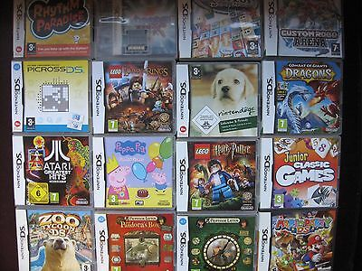 Nintendo DS / DSi + 3DS GAMES - SELECT from List - Over 100 titles - Many Rare -