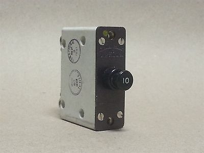 Eaton Aircraft Time Delay 10a 28vdc Circuit Breaker Part 1200-001-10