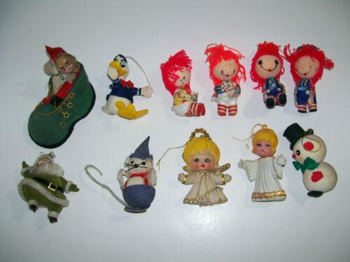 lot of vintage Felt Christmas Ornaments