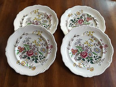 "Set of 4 SPODE Copeland England Romney S228 Gadroon 10 3/4"" Dinner Plates"