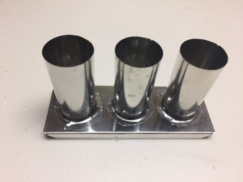 """New Three Tier  Round Metal Votive Candle Mold Each Cup Is 3"""" x 1 3/8"""""""