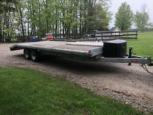 2016. 24' Galvanized Float Trailer With Heavy Ramps.   $7000