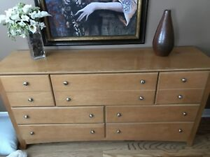 Large dresser - solid wood - with attachable mirror