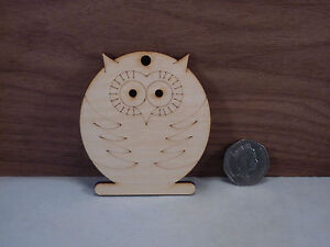 Wooden owl Shapes 4mm birch ply wood craft Blank, Tags, plaques and cut-outs