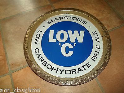 Vintage Beer Tray Advertising MARSTON'S LOW 'C' LOW CARBOHYDRATE REAL ALE