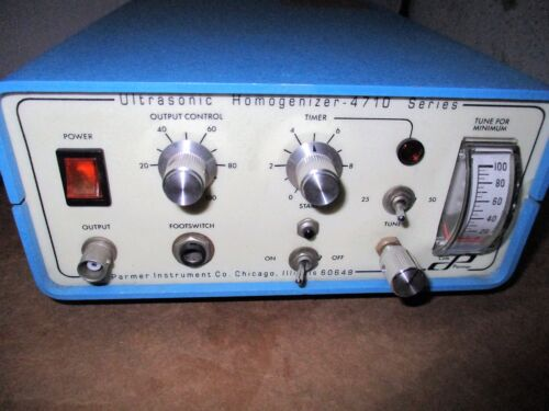 Cole Parmer Ultrasonic Homogenizer 4710 Series Model CP 50 T 120V