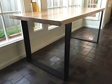 MONARCH DINING TABLE SQUARE CORNERED LOOP LEGS Brighton Bayside Area Preview