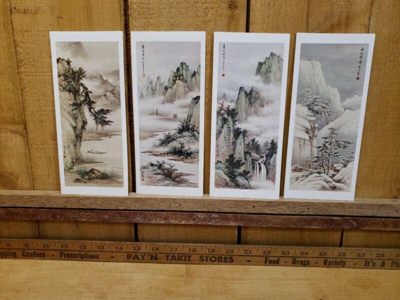RARE Huang Chun-Pi Christmas/New Year Cards 12 Cards & Envelopes Original Box