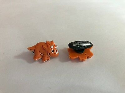 Orange Dinosaur Shoe-Doodle For Rubber Shoes or Crocs Shoe Charm - Dinosaur Shoe Charm