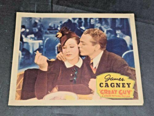 JAMES CAGNEY ORIGINAL LOBBY CARD GREAT GUY 1936 MAE CLARKE