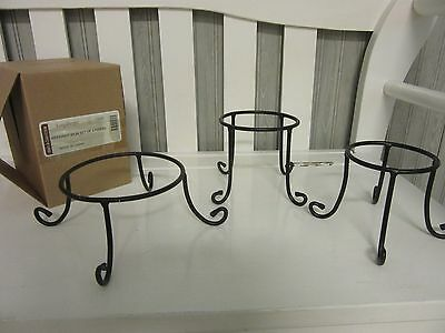 Longaberger 2015 Booking Set of 3 Wrought Iron Stands New In Hand