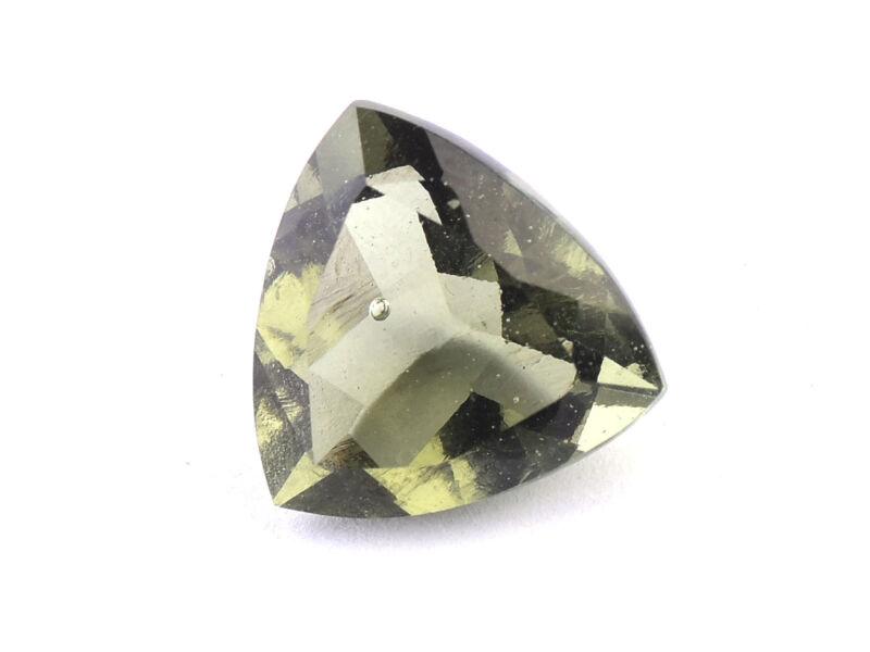 0.96g triangle standart cut 12.5 x 12.5mm moldavite faceted cutted gem BRUS1325
