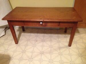 Antique 19th Century Pine Coffee Table With Drawer, $75 Firm