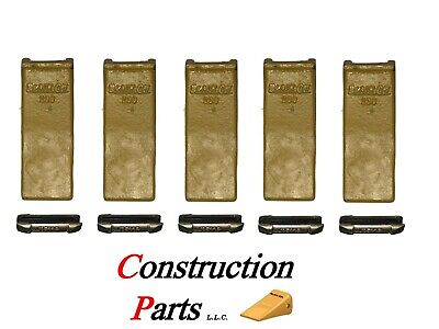 230 Heavy Duty John Deere Case Backhoe Bucket Teeth W Extra Long Flex Pins