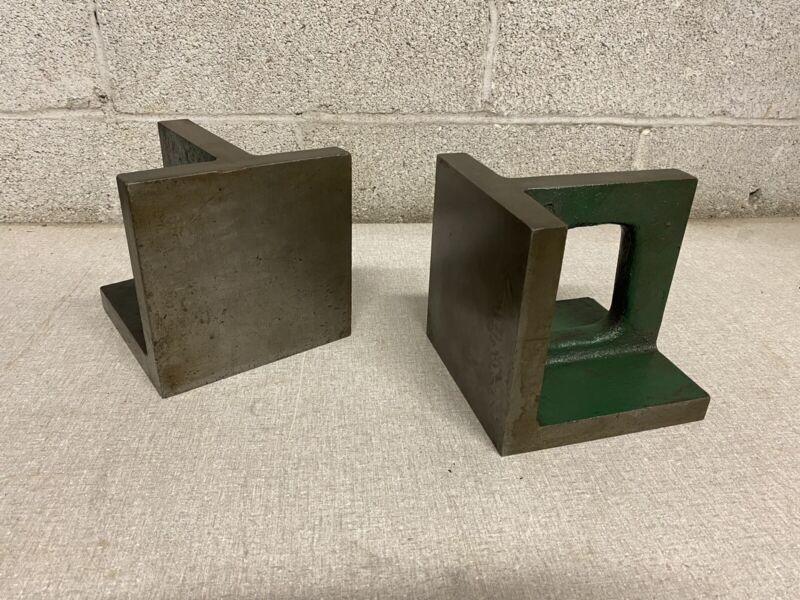 "6""x6""x6"" Cast Iron Universal Right Angle Block Plates Set Of 2"