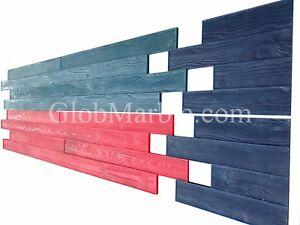 Concrete Stamp Mats 4 Pieces Set Woodgrain 3 1 2 Wood Plank Stamps SM 5200