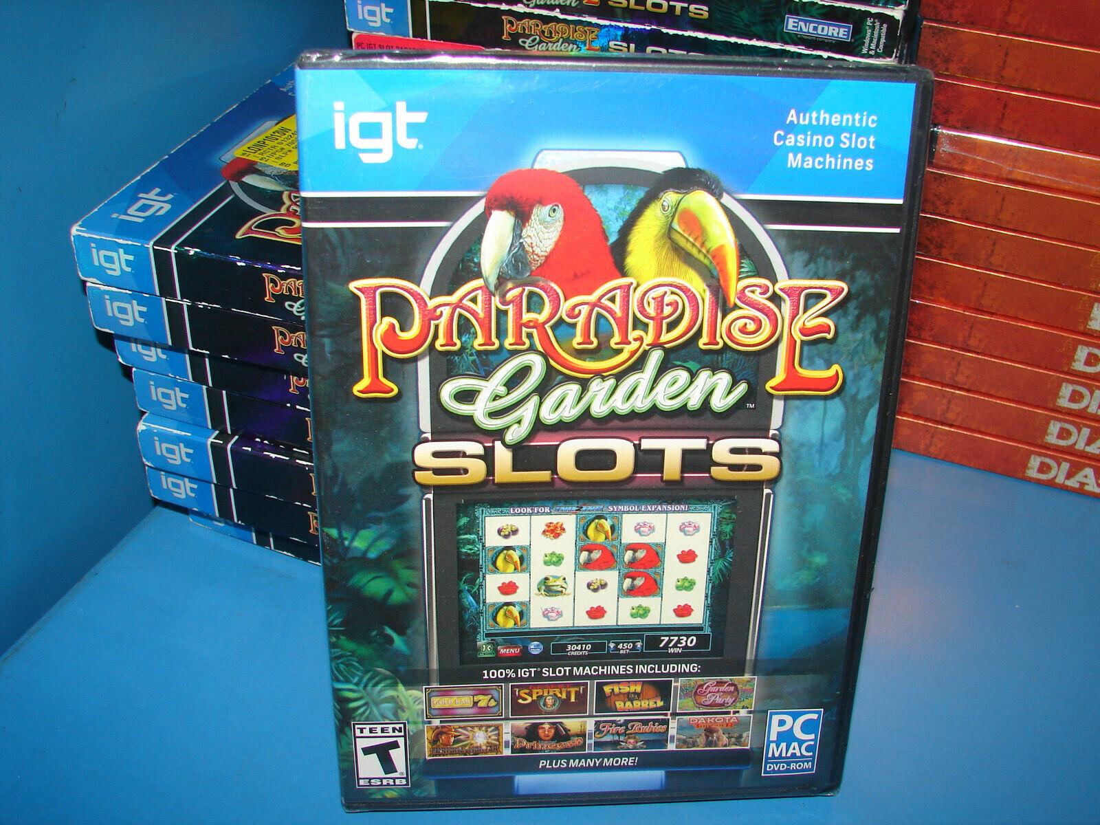 Computer Games - IGT Paradise Garden Slots PC Games Windows 10 8 7 Vista XP Computer slot machine