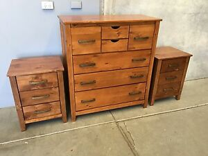 TALLBOY AND 2 BEDSIDE SET(BRAND NEW,IN THEIR BOXES AND ASSEMBLED) Penrith Penrith Area Preview