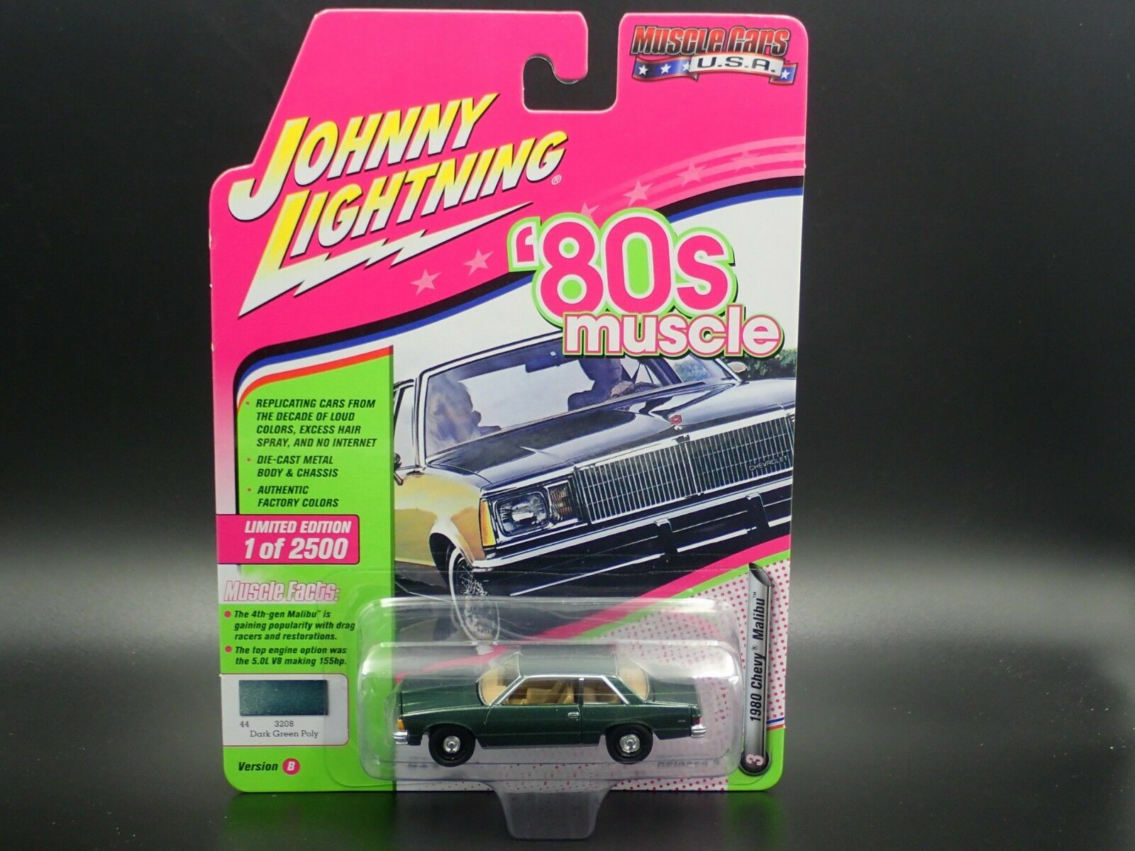 Купить JOHNNY LIGHTNING 1980 CHEVY MALIBU 80'S MUSCLE CARS USA  2018 VS. B RELEASE 3