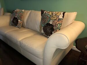 Natuzzi cream/ivory couch and chaise