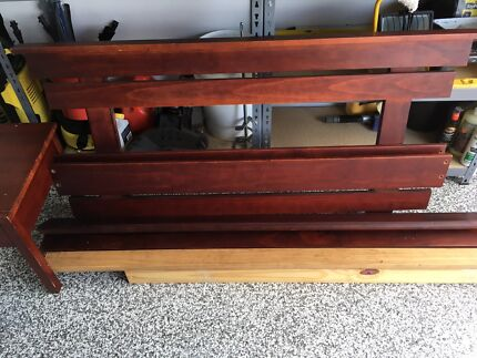 Double timber futon bed