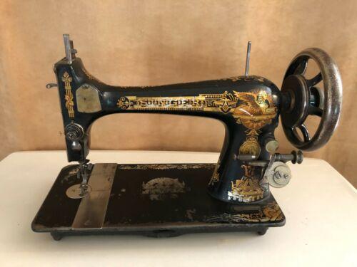 1892 Singer 127 Sphinx treadle sewing machine Antique gold 10867658 black crank
