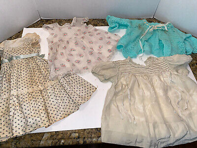 Lot Of Vintage Doll &/Or Baby Clothes