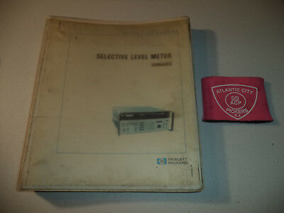 Hewlett Packard Hp 3586abc Selective Level Meter 03586-90011operating Manual