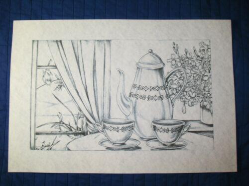* TRI CHEM 7636 TEA TIME CUP PARTY Picture to paint TRICHEM
