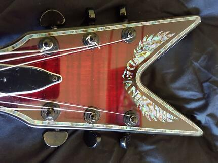 Dean ML Archtop AT3000 Guitar, Rare, Abalone, Scary Cherry MIK