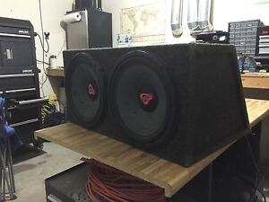 """12"""" Subs Cerwin Vega Subs and Pioneer Amp"""