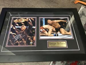 George St-Pierre signed pictures framed professionally