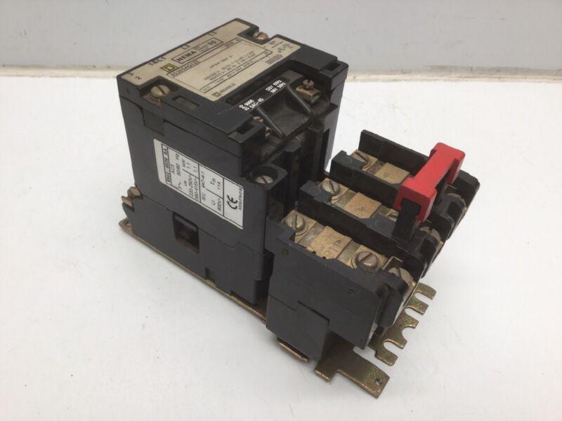 SQUARE D 8536SAG12S Magnetic Motor Starter 600V, 50/60Hz, 3~, B11.5 Heater