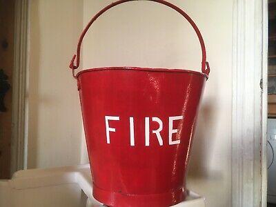 Heavy Duty Vintage Galv Bucket Red Fire Bucket