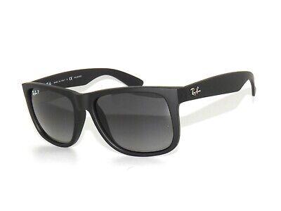 Ray Ban Sunglasses Justin 4165 622/T3 54 Rubber Black Polarized Rayban RB4165