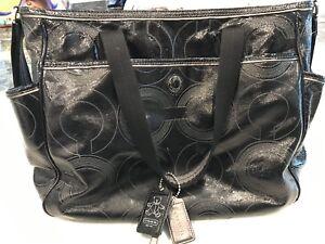 Coach Baby Tote Diaper bag, black