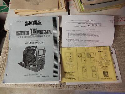 EIGHTEEN 19 WHEELER SEGA     arcade game  owners manual