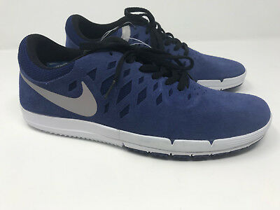 4d5ae865a936 New NWOB Nike Free SB Deep Royal Blue White Silver Skate Shoes Size 7.5