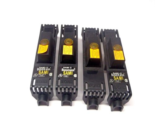 Lot of (4) Bussman SAMI-1I Fuse Indicating Holder Covers