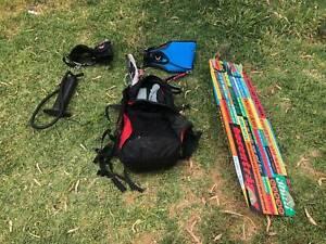 KITESURF JN 10.5m Kite, bar, 5 lines, board, harness