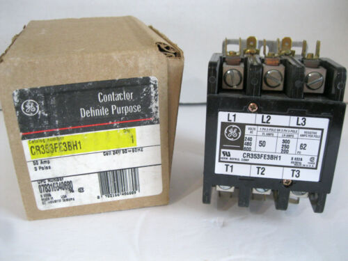 New General Electric CR353FE3BH1 Definite Purpose Contactor 3 Poles 50 Amp USA