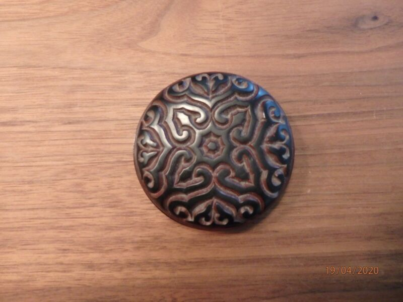 Chinese Lacquer Box -TIXI -Carved Lacquerware,3 inches diameter