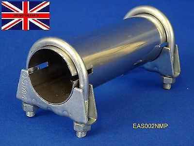 """Exhaust Sleeve Adapter Connector Pipe Stainless Tube 51mm  2""""  I.D. EAS002"""