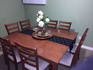 Solid Wood 8 Chairs Dining Table